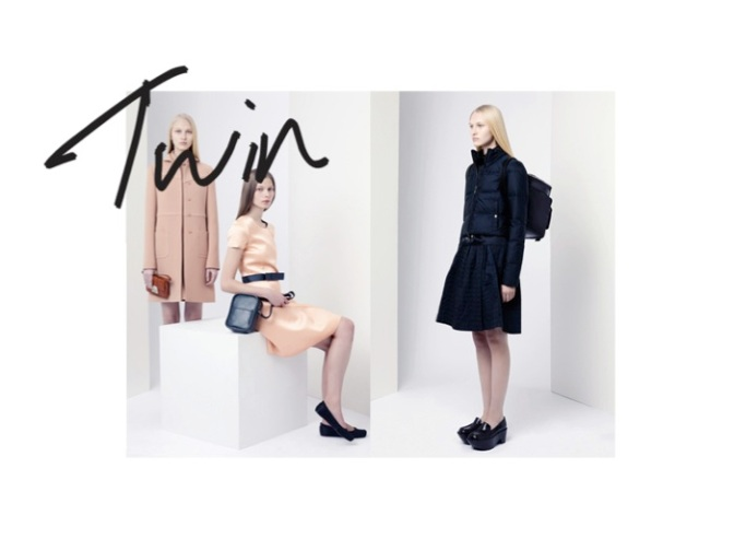 JIL SANDER NAVY SPREAD IN TWIN MAGAZINE